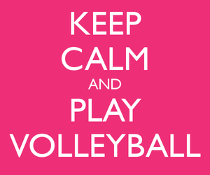 inspiration, pink, and volleyball image