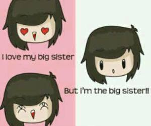 lol, sister, and i love me image