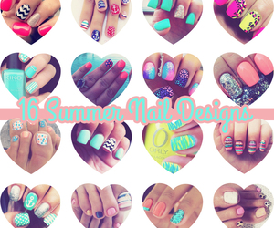 nails, girl, and summer image