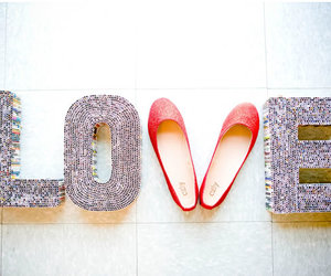 red, shoes, and love image