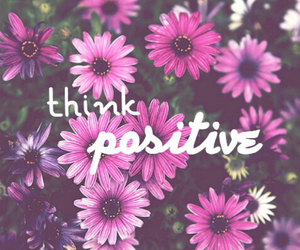 quote, positive, and flowers image