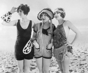 beach, fashion, and 1920s image