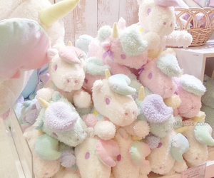 unicorn, pastel, and cute image