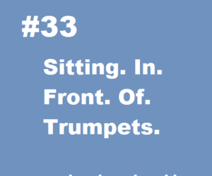 band, nerd, and trumpets image