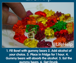 alcohol, drinks, and gummy bears image