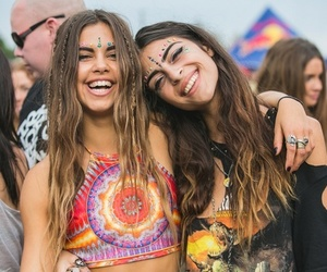 girl, festival, and hippie image