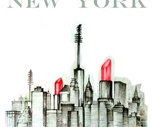 new york, drawing, and make up image
