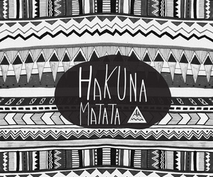 hakuna matata, background, and black and white image