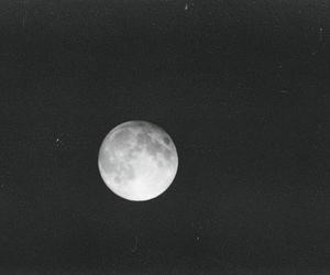 moon, night, and black and white image