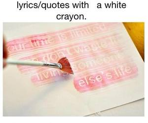 diy, crayon, and quote image