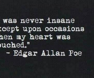 quotes, edgar allan poe, and heart image