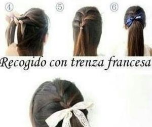 trenza, tutorial, and hairstyle image