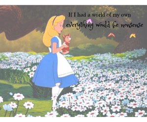 alice in wonderland, nonsense, and quote image