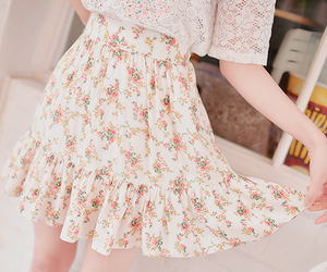 flowers and skirt image