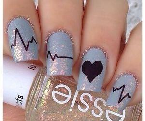art, heart, and nail art image