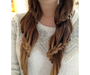 blonde, braids, and ombre image
