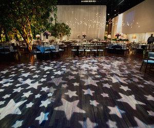 light, stars, and wedding image