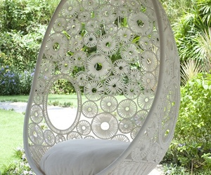 white, garden, and relax image