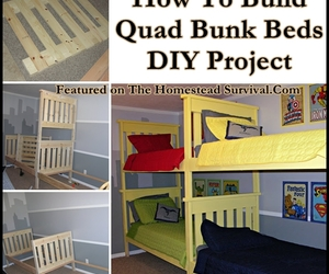 diy quad bunk bed project image