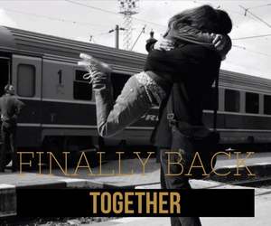 back, finally, and together image