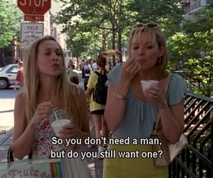 Carrie Bradshaw, samantha jones, and sex and the city image