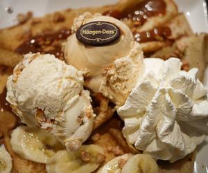 banana, dessert, and ice cream image