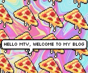 pizza, grunge, and mtv image