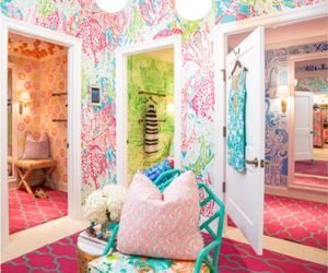 pink, preppy, and lilly pulitzer image