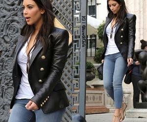 kim kardashian, fashion, and outfit image