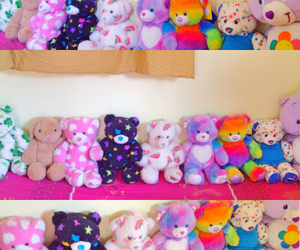 bear, doll, and rainbow image