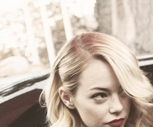emma stone, hair, and blonde image