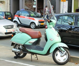 amsterdam, mint, and scooter image