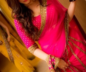 bridal, indian fashion, and dress image