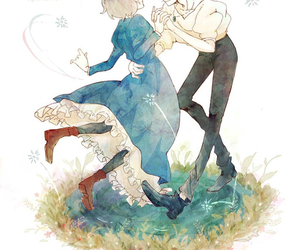 couple, howl's moving castle, and Howl image