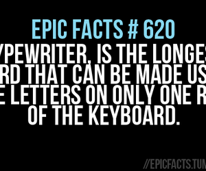 epic, typewriter, and facts image