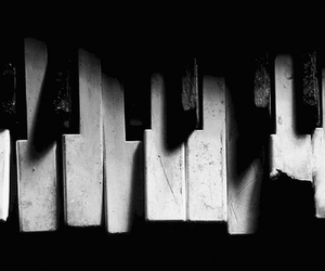 piano, music, and broken image