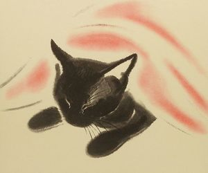 cat, draw, and cute image