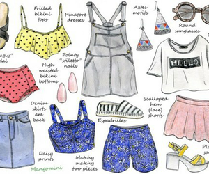 fashion, summer, and clothes image