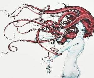 women and octopus image
