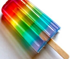rainbow, ice cream, and food image