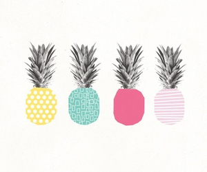 beach, colors, and pineapple image