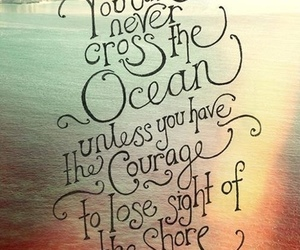 ocean, quote, and courage image