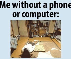 phone, computer, and funny image