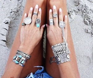 fashion, rings, and summer image