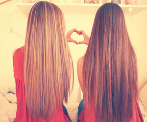 hair, friends, and heart image