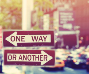city, one way, and or another image