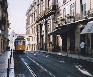 lisbon, city, and street image