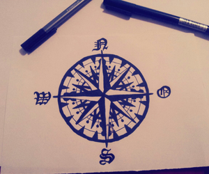 compass and drawing image