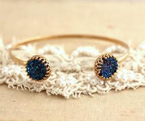 blue, bracelet, and gold image