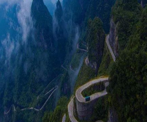 nature and mountain road image